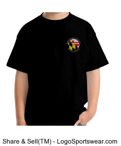 Youth T-Shirt - Black Design Zoom